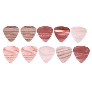 10pcs Wood Grain Guitar Picks 0.71mm / 0.46mm / 1.00mm