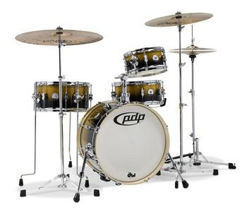 Daru Jones Kit w/Bags & 6000UL HW - Yellow-Black Sparkle Fade