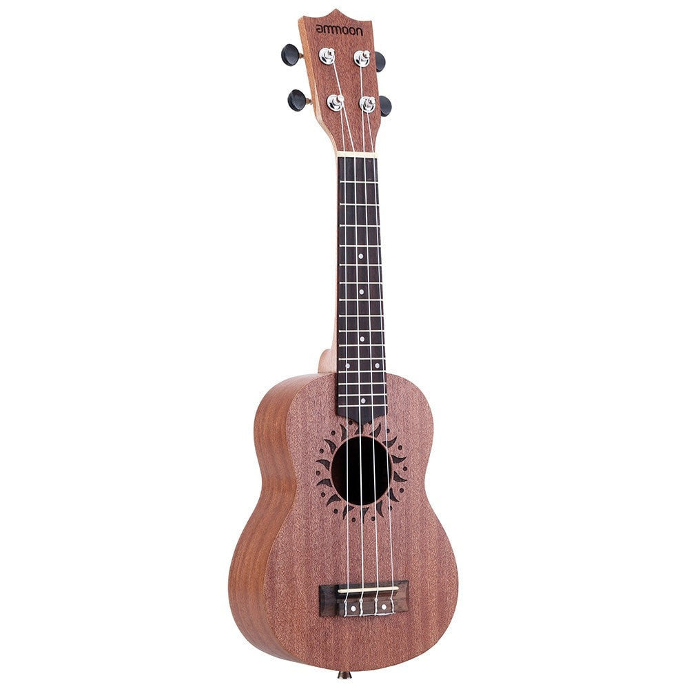 "21"" Acoustic Ukulele Sapele 15 Frets and 4 Strings - Sunfield Music"