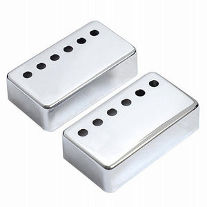 Upgrades - 2pcs Chrome Metal Humbucker Pickup Cover 50/52mm For LP Style Electric Guitar Golden Silver Black Gold