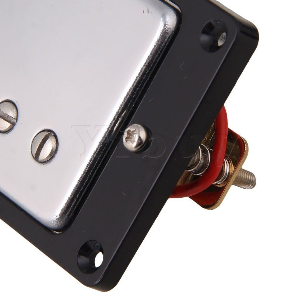 Upgrades - Yibuy Chrome Plated Humbucker Pickups For Electric Guitar Set
