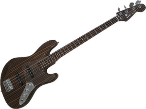 Zebra Wood Electric Bass Guitar