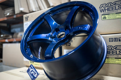 Supra A90 Gram Lights 57CR Wheels 19x9.5 +25 Front / 19x10.5 +35 Rear 5x112 Eternal Blue Pearl (Set of Four)