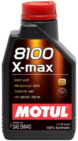 MOTUL 8100 0W40 X-MAX ENGINE OIL 1 LITER