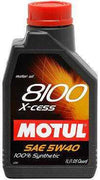MOTUL 8100 5W40 X-CESS SYNTHETIC OIL - 1L (1.05 QT.)