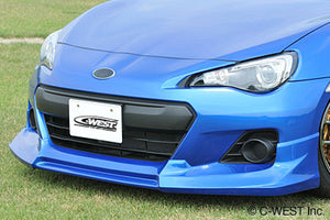 C-West ZC6 Front Half Spoiler ABS w/ Paint - 2013+ Subaru BRZ (Not Available for FR-S)