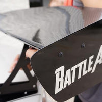 "Battle Aero Force 2 (66"") Carbon Fiber / FRP GT Wing Trunk Mount / Short Stands"