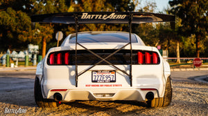 Battle Aero V4 Chassis Mount Wing GT Kit for Ford Mustang (S550)