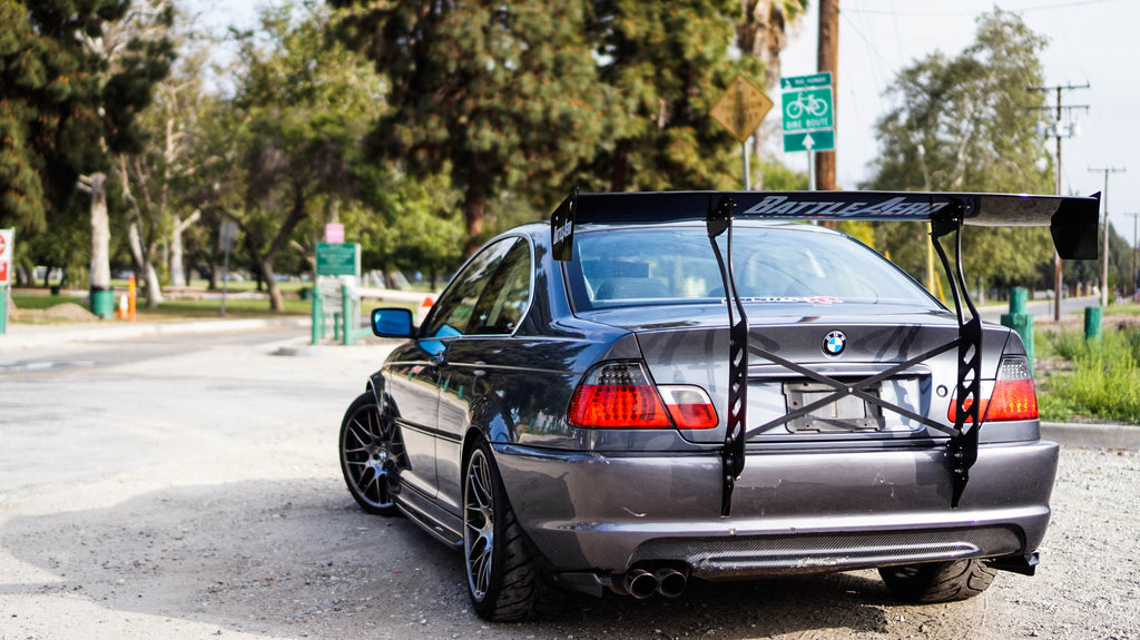 Battle Aero BMW E46 Chassis Mount GT Carbon Fiber Wing Spoiler Kit