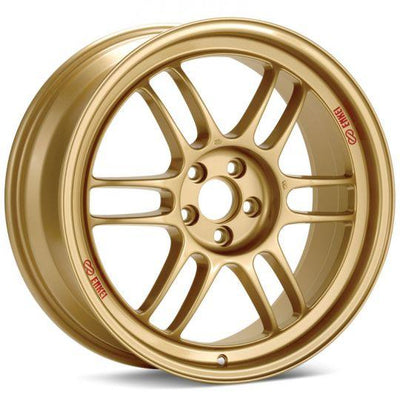Enkei Racing Wheels RPF1 in 17in , 18in , 19in. Available in Gold, F1 Silver , Matte Black , and SBC.