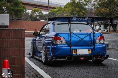 Battle Aero Subaru Impreza / WRX / STI (GD) V4 Chassis-Mount GT Wing Kit