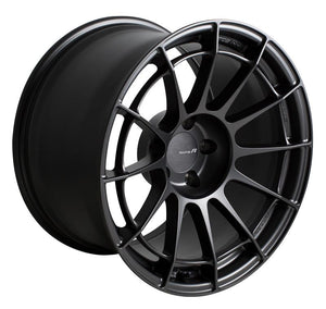 Enkei NT03RR Racing Wheels come in 17in and 18in with a matte gunmetal finish.