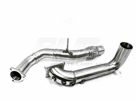 Private Label MFG Power Driven Civic Type R 3in Downpipe & Frontpipe combo 2017+ FK8