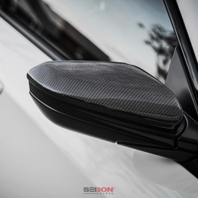 Seibon Carbon Fiber Mirror Cover - '17+ Honda FK8 Civic Type R