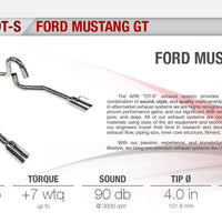 Ark Performance Ford Mustang DT-S Catback Exhaust (1999-2004)