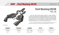 Ark Performance Ford Mustang V6 / V8 GRiP Catback Exhaust (2015+)