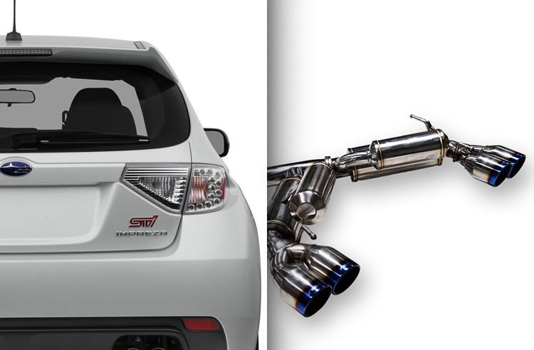 Ark Performance Subaru WRX / STI Hatchback  GRiP Catback Exhaust (2008-2014)