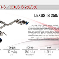 Ark Performance Lexus IS 250/350 RWD DT-S Catback Exhaust (2006-2012)