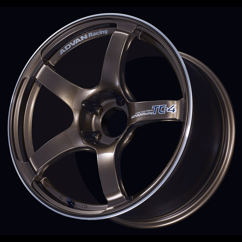 Advan TC-4 Wheel - 17x9.5 / Offset +50 / 5x114.3 (Umber Bronze Metallic & Ring) Part Number: ADV-TC4-1795-50-51143-UBR