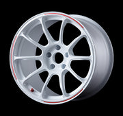 FK8 Honda Civic Type R CTR VOLK RACING ZE40: 18x9.5 5x120 +46mm (DASH WHITE/REDOT)