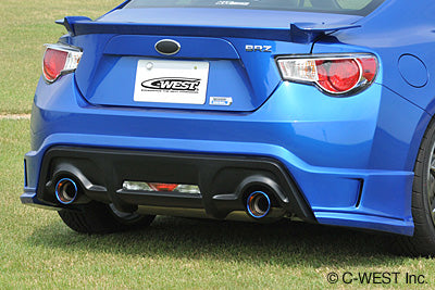 C-West Rear Half Spoiler Abs With Paint - Scion FR-S / Subaru BRZ