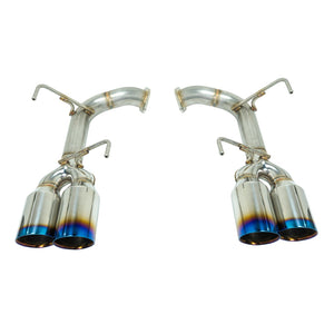 "REMARK 4"" Burnt Stainless Steel Quad-Tip Axle-Back Exhaust (Double Wall) - 2015+ Subaru WRX/STI (VA)"