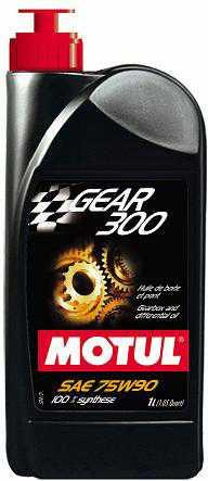 MOTUL GEAR 300 75W90 - 100% SYNTHETIC ESTER, 1L (1.05 QT.)
