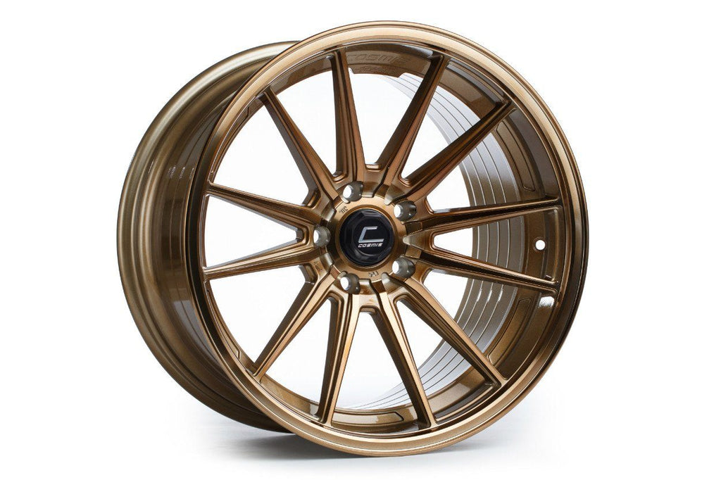 Cosmis Racing R1 wheel. Super deep concave. Available in Machined lip, Black, Black Chrome, White, Hyper Bronze, Gunmetal, Bronze, and silver. 20in, 18in.