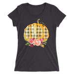 Pumpkin Fitted Girlie Tee