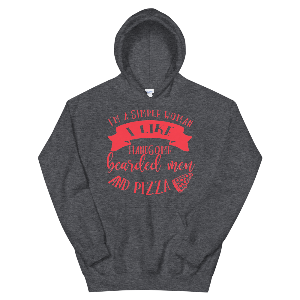 Bearded Men And Pizza Campfire Hoodie