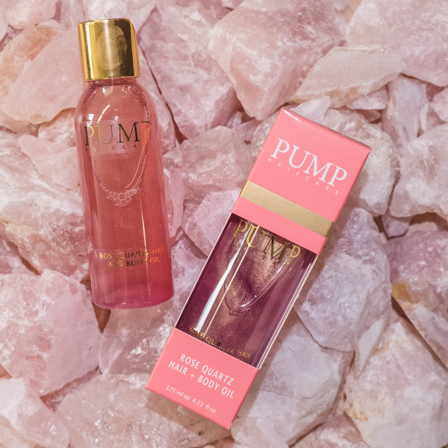 Pump Rose Quartz Hair and Body Oil