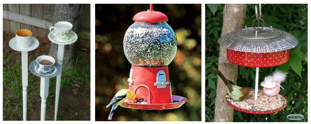 Collage of Bird Feeders
