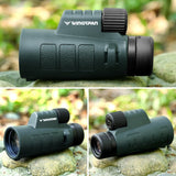 Wingspan Optics Outdoorsman 8X42 Compact Wide View Monocular for Bird Watching for Deliciously Bright, Crisp Images. One Hand Focus. Lightweight, Waterproof, Fogproof, Tripod Capable. For Bird Watching and Hiking - Wingspan Optics