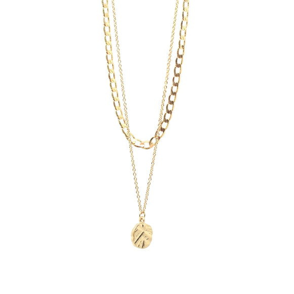 Odine Double Necklace Gold
