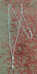Six Shooter Heritage Arrow Necklace Vintage Silver + FREE Matching Earrings