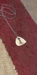 Country Girl Boots Spurs Hand Crafted Guitar Pick Necklace