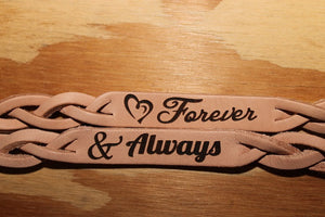 Forever and Always Two Leather Bracelets