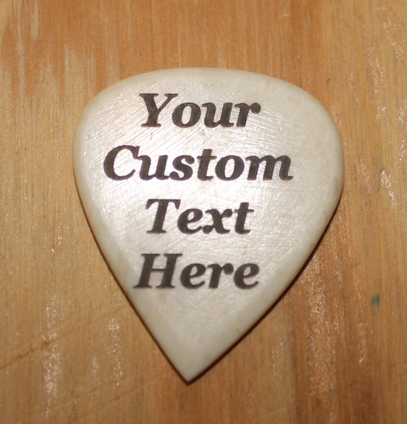 Custom and Personalized Hand Crafted Cow Bone Guitar Pick Fender Guitar Pick