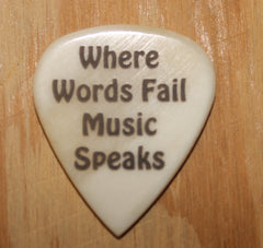 Music Speaks Hand Crafted Guitar Pick