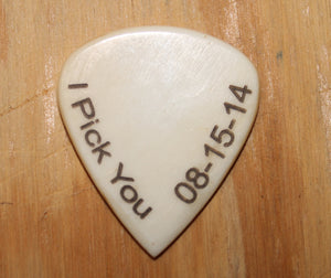 I Pick You with Personalized Date Hand Crafted Guitar Pick