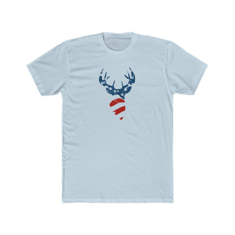 American Flag Buck Men's Tee