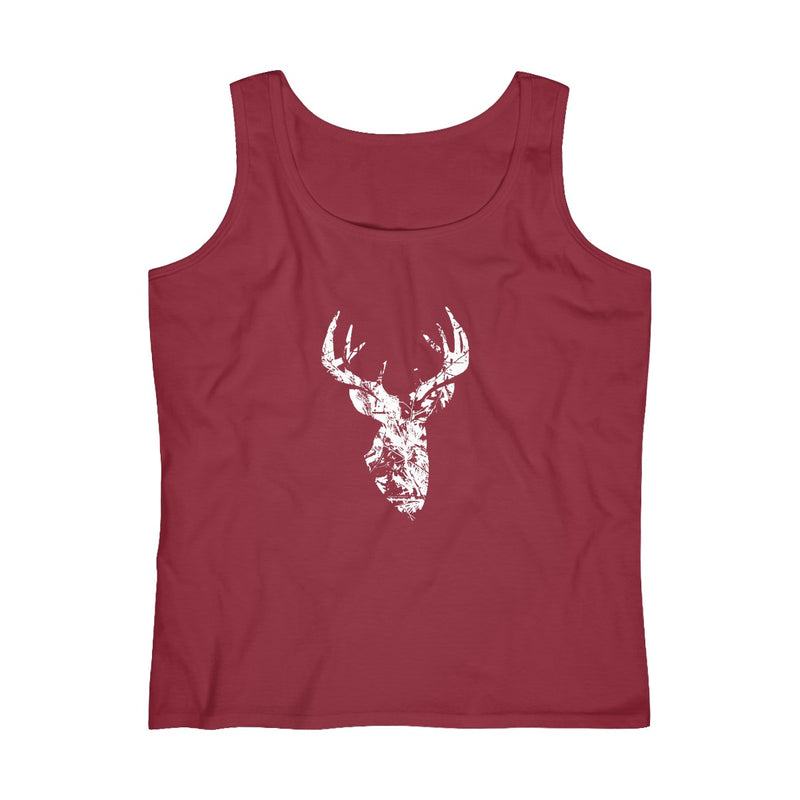 Women's Camo Pattern Buck Tank