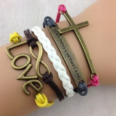 "Infinite Faith ""When there is a will there's a way"" Bracelet"