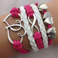 Stacked Pink & White Bracelet