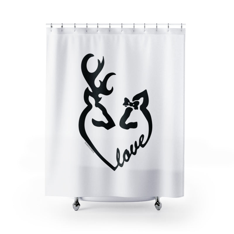 "Buck and Doe ""Love"" Shower Curtain"
