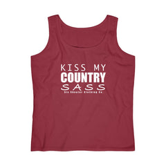 Women's Kiss My Country Sass Tank