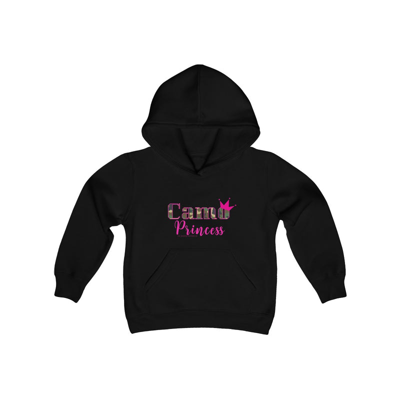 Youth Girls Camo Princess Hoodie