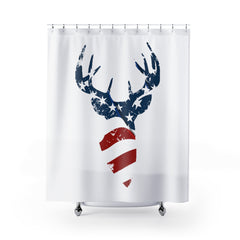 American Flag Buck Shower Curtain