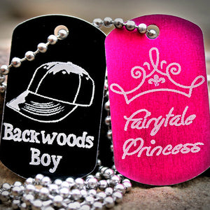Backwoods Boy Fairytale Princess Dog Tag