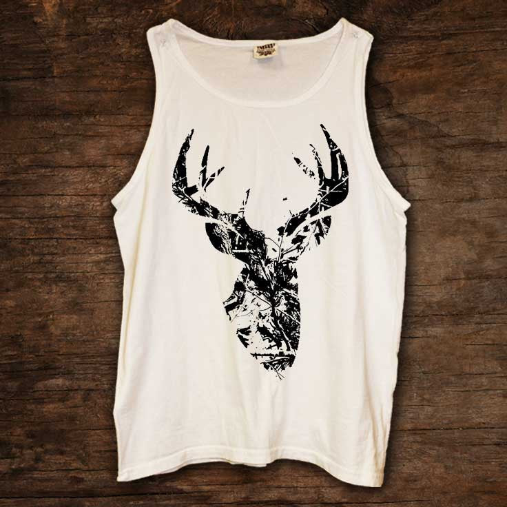 Black Camo Buck Tank (sizes run big)